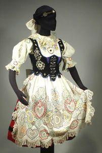 RARE Czech Folk Costume Embroidered Blouse Beaded Apron Fish Scale Vest Bohemian   eBay
