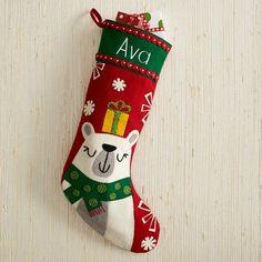 Holiday Stocking - Polar Bear