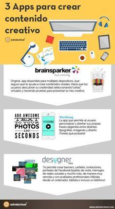 3 APPs para crear contenido creativo #infografias #infographic