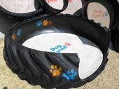 make a pet bed out of an old tire - chew proof! from Dog Tyred.