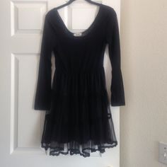 Black dress Molly Bracken Dress / blouse , Molly Bracken , nice brand in Europe , pretty with legging or on top of small dress . Or just like that with long socks and boots. Good condition Molly bracken  Tops Tunics