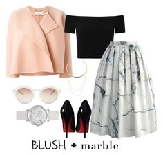 """""""Blush & Marble"""" by paigeromano ❤ liked on Polyvore featuring Chloé, self-portrait, Alice + Olivia, Chicwish, Christian Louboutin, Edge of Ember and blushmarble"""