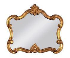 Specchio da parete in poliuretano Porette IV - 92x109x6 cm