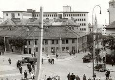 Križovatka pod hl. stanicou. Vpravo Štefanovičova, naľavo ul. Šancová