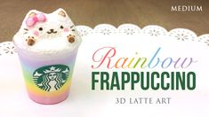 DIY Clay Starbucks Latte Art Rainbow Frappuccino [Video] - http://www.gottalovediy.com/clay-starbucks-latte-art-rainbow-frappuccino/