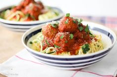 "Vegetarian White Bean ""Meatballs"" with Low Carb Noodles via @abbeyskitchen"