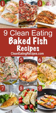 9 of the Best Clean Eating Baked Fish Recipes - I love the variety. They all look good and healthy and they all have a beautiful image so I can quickly decide what I like.