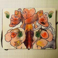 Sketchbook Ink Blots- See . Saw by L Filipe dos Santos, via Behance