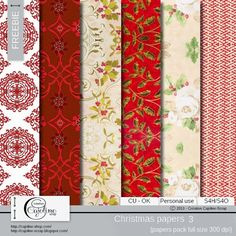 CAJOLINE-SCRAP: Freebie - Christmas papers CU 3 printable background