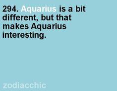 294. Aquarius is a bit different, but that makes Aquarius interesting.