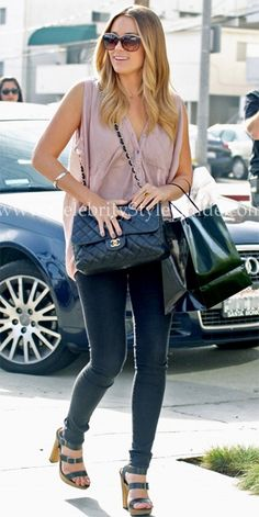 Lauren Conrad Style and Fashion - Chanel Quilted Flap Bag on Celebrity Style Guide