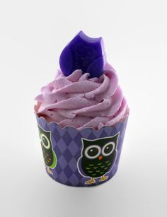 Purple Hooter Halloween Bath Bomb Cupcake by PinupBeautyStore