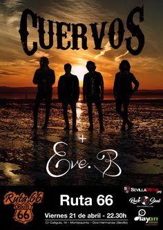 CUERVOS Y EVE.B. EN SEVILLA - EL PRÓXIMO VIERNES!