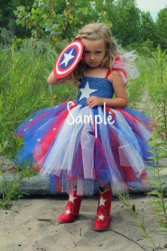 Captain America tutu dress for Miss A