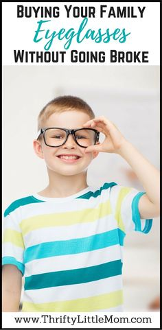 Buying Your Family Eyeglasses without going broke! This post breaks down how to order your kids glasses online after going to the eye-doctor.