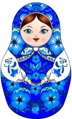 Matryoshka – Russian nesting doll. Clip art.