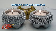 DIY How to make Cement Candle Holder - JK Arts 101