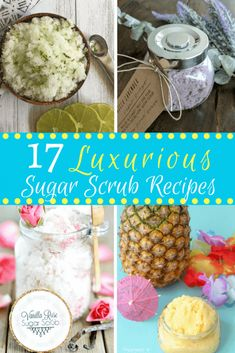There's nothing more luxurious than your skin after using homemade sugar scrubs! And the best thing of all is that most DIY sugar scrub recipes are so easy to make! #PeppermintBodyScrub #HomeMadeFaceScrub #DailyFaceCare Coconut Oil Sugar Scrub, Vanilla Sugar Scrubs, Sugar Scrub For Face, Sugar Scrub Homemade, Sugar Scrub Recipe, Homemade Skin Care, Homemade Facials, Homemade Products, Homemade Beauty