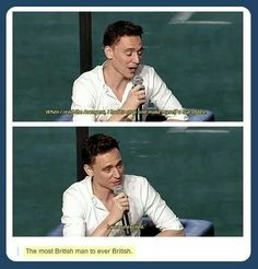 Tom Hiddleson everyone, the only man who could make British a verb!