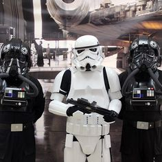 Lucas and Co. do a great job they send these guys out at no cost for charity. #Stormtrooper #StarWars #TieFighter #Cosplay #ComicCon