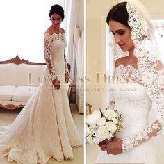 Lace Wedding Dress Boutique Long Sleeves Mermaid Vestido De Noiva Elegant Vintage Wedding Dress Custom Made Robe De Mariee