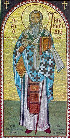 saint Iraklidios Mosaic Art, Mosaics, Saints, Princess Zelda, Portrait, Fictional Characters, Headshot Photography, Portrait Paintings, Fantasy Characters