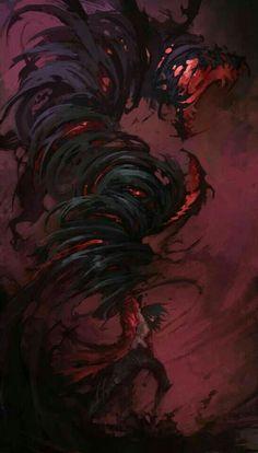 Monster Art, Monster Concept Art, Fantasy Monster, Shadow Monster, Dark Fantasy Art, Fantasy Artwork, Dark Art, Fantasy Character Design, Character Art