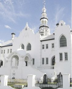 NG Church in Swellendam - Western Cape - South Africa. Wonderful town, gorgeous church - has an amazing organ :) South Afrika, Cape Dutch, Westerns, Port Elizabeth, Cathedral Church, Old Churches, Church Building, Out Of Africa, Place Of Worship