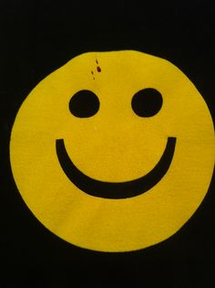 No joke - the t-shirt I was wearing after trading broken noses with a guy. Watchmen anyone? I found it quite comical.