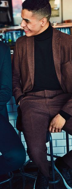 A turtleneck under your blazer is casual classic for the New Years eve  party  jackandjones fbf760bd884