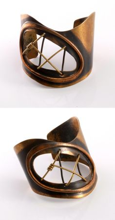 Cuff | Art Smith.  Copper and brass.  ca. 1950s