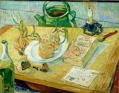 "Vincent van Gogh (1853-1890), Gauguin's Chair, 1888, Oil on canvas, 35-5/8 x 28-9/16"", Van Gogh Museum, Amsterdam (Vincent van Gogh Foundation)."