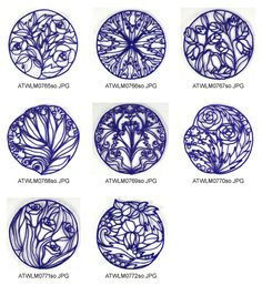 TIMED LIMITED Lace-Coasters Embroidery Designs