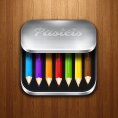 The color of these drawing pencils are truly eye catching. Even though it says pastels, these are bright and colorful. Being in a fancy case symbolizes class and quality to the product. Not only is this design classy but it also shows off all aspects of the product.