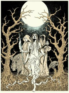 Triple Goddess by Glyn Smyth