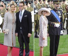 Princesa Victoria da Suécia e Princesa Letizia da Espanha