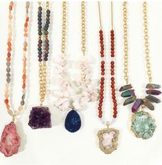 I want to make these druzy pendant necklaces i already have so many beads like this!