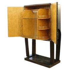 Italian 1940s Cerused Oak Dry Bar   From a unique collection of antique and modern dry bars at https://www.1stdibs.com/furniture/storage-case-pieces/dry-bars/