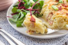 The flavour of twice-baked potatoes in an easy casserole dish (no cream soups!) for everyone to share.