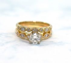 Learn about the top 2019 engagement ring trends and top styles that will be popular this year. Read more to view the best new engagmenet ring styles of 2019 Rose Gold Engagement Ring, Designer Engagement Rings, Vintage Engagement Rings, Rose Gold Diamond Ring, Custom Jewelry, Fashion Rings, Birthstones, Wedding Rings, Yellow