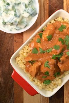 Slow Cooker Chicken Tikka Masala - The Lemon Bowl.  Hubby said this was a nice healthier alternative (although nothing is as good as the original!).  Use ground ginger instead of grated ginger but only use ONE TBSP
