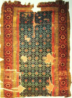 This rug is one of the oldest known Turkish rug. From Konya city, dated century.