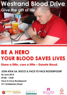 Don't miss out on the #westrand #blooddrive!