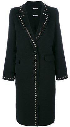 P.A.R.O.S.H. Women's Black Wool Coat.