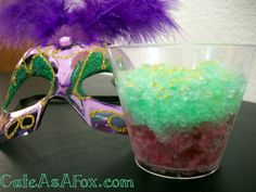 Cute As a Fox: Mardi Gras - Signature Drink Slush Party Drinks, Fun Drinks, Yummy Drinks, Beverages, Mardi Gras Food, Mardi Gras Party, New Orleans Mardi Gras, Non Alcoholic Drinks, Cocktails