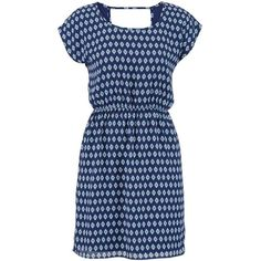 maurices Diamond Patterned Dress ($17) ❤ liked on Polyvore featuring dresses, multi, blue chiffon dress, maurices dresses, maurices, blue dress and chiffon dress