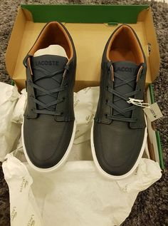 Brand new Lacoste Dark Blue shoes with tag name and carton box. Bought a small size by mistake from Amazon and want to sell it.  Size is 9 USA _ 8 UK _ 42 EUR - Price QAR 400 #rangloo, #bar, #accessories