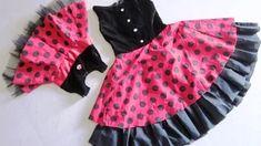 how to make ladybugs dress - YouTube