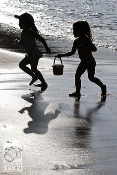 Playing on the beach <3