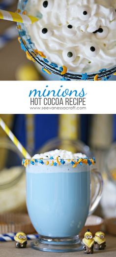 Minion Hot Cocoa Recipe #MinionsMovieNight #ad
